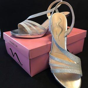 Nina Nelda-YG Silver Glitter Elegant Sandle 8.5M